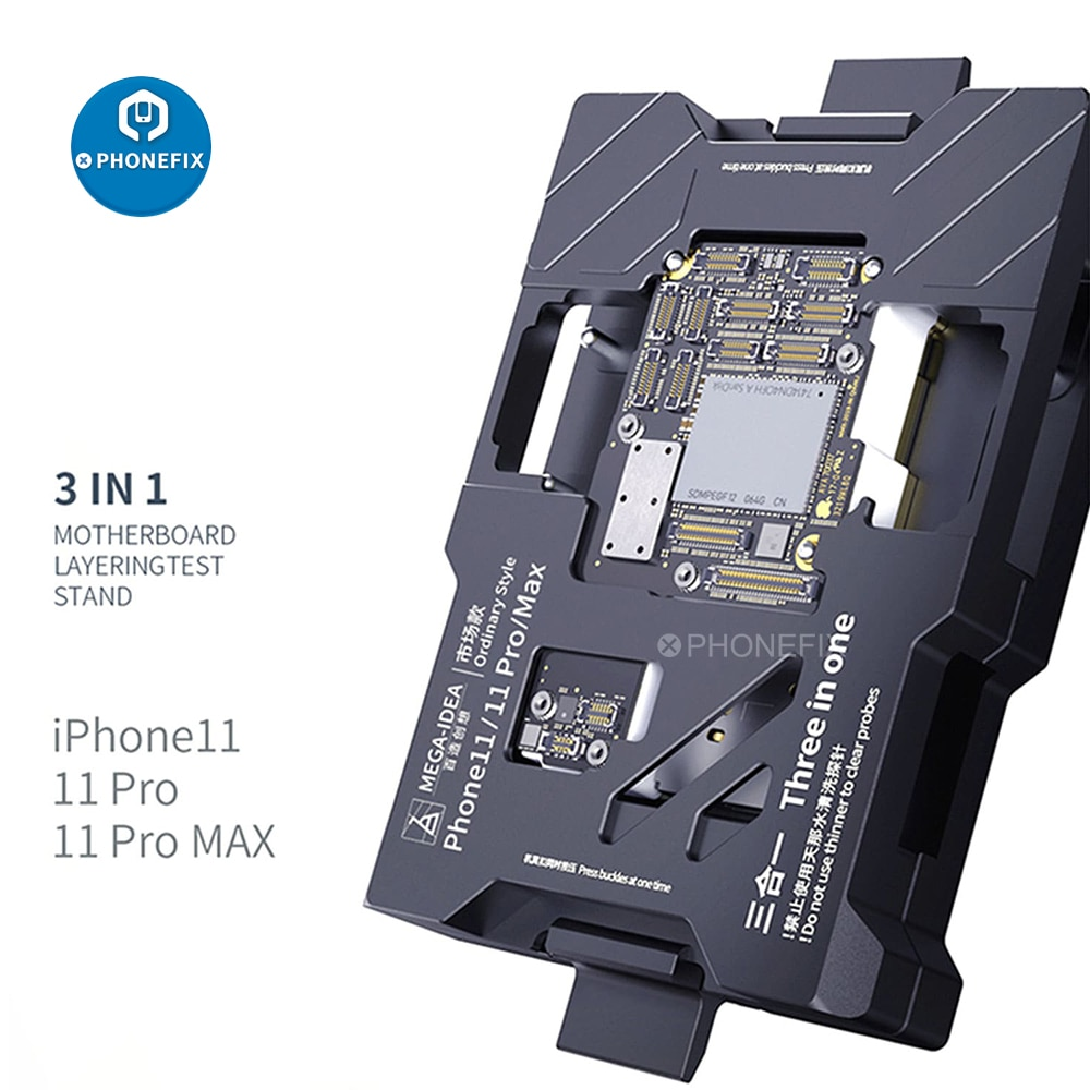 Get QIANLI 3-IN-1 MEGA-IDEA Motherboard Layering Test Stand For iPhone 11/11 Pro/11 Pro Max Logic Board Function Test Fixture