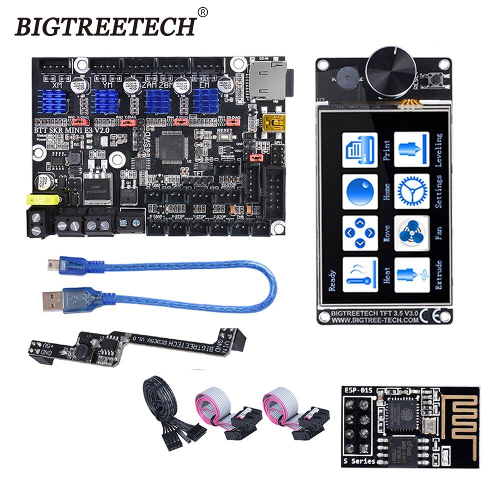 BIGTREETECH-اللوحة الأم SKR MINI E3 V2.0 ، مع شاشة تعمل باللمس TFT35 V3.0 ، وحدة WIFI dc5v ، لطابعة Ender 3 ثلاثية الأبعاد ، ترقية CR10