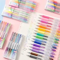 multi gray pens set kawaii 0 5 color cute gel ink pen for writing highlighter office school supplies stationery replace refill