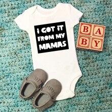 Body lesbien mamans lesbiennes je lai eu de mes Mamas deux momies LGBT bébé tenue deux mamans bébé douche cadeau livraison directe