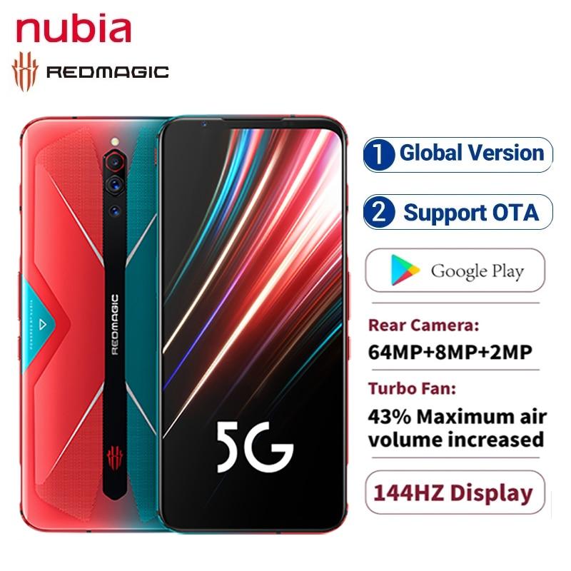 "Global Version ZTE Nubia Red magic 5S 5G Gaming phone 6.65"" 12GB RAM 128/256GB ROM Snapdragon 865 Redmagic 5S Smartphone NFC"