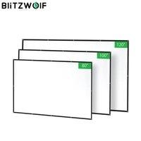 BlitzWolf BW-VS2 ecran de projecteur Portable rideau Simple 80 100 120 pouces Polyester avec cinema maison compresse pliable