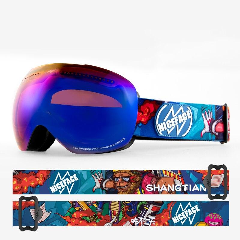 2021 New Adult Double Layer Ski Goggles Anti-Fog Skiing Eyewear Men Women Outdoor Snowmobile Safety Goggles Luxury Ski Equipment