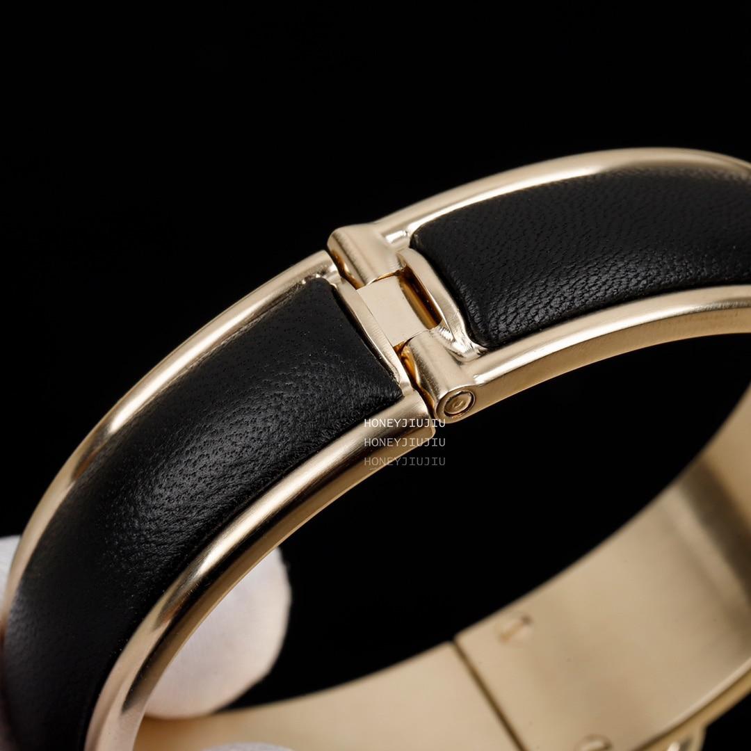 2021 New Trends Sheepskin Black Bracelet For Women Europe Top Quality Designer Luxury Jewelry Original Sign Brand Bijoux