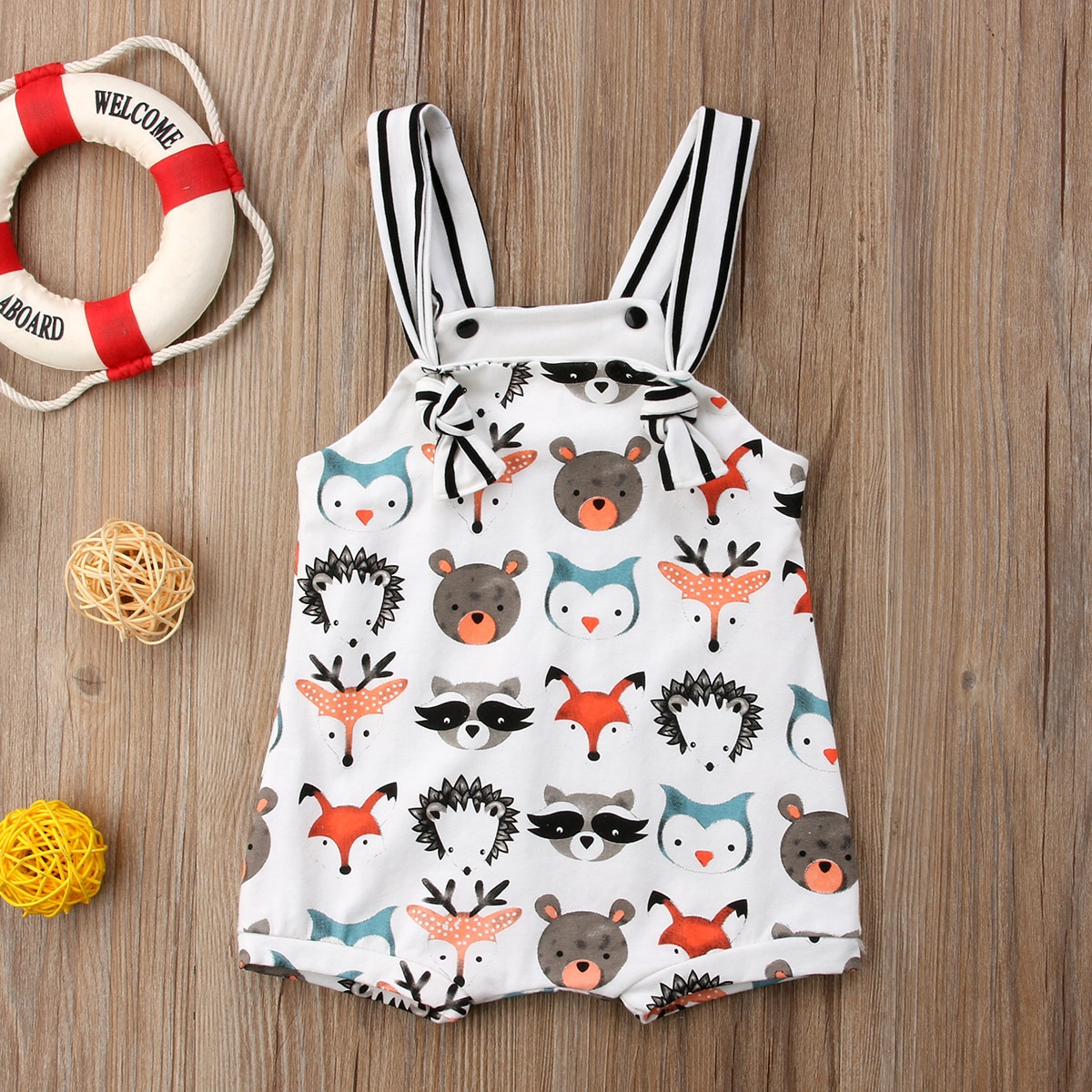 2020 Newest Fashion Infant Newborn Baby Boy Girl Clothes Summer Cute Animals Print Strap Romper Jumpsuit Outfits Sunsuit Clothes