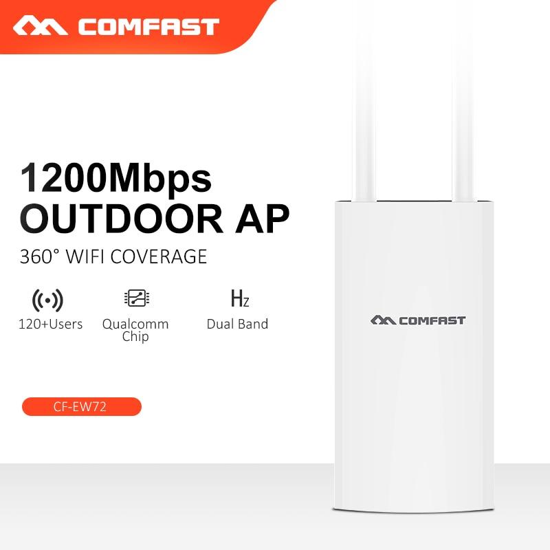 Comfast-enrutador inalámbrico AP wifi de doble banda para exteriores, 300M, 1200 Mbs,...