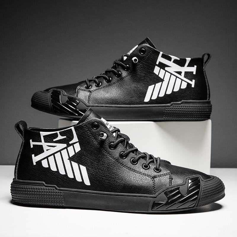 سوبر ستار موضة رسالة سوداء مطبوعة عالية كبار أحذية رياضية الرجال أحذية التزلج مواسم مريحة أحذية رياضية الرجال zapatos hombre