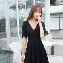Nightclub Women's Clothing Slim Looking Belly Covering Sexy Dress Large Size Sauna Foot Massage Tech