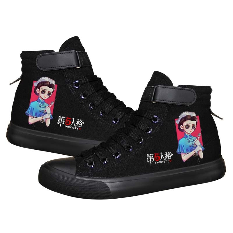 Unisex Anime Fate Identity V Casual Canvas Shoes Sneaker Identity V Jack Emily Dale Freddy HOOk&LOOP Flats duck shoes plimsolls