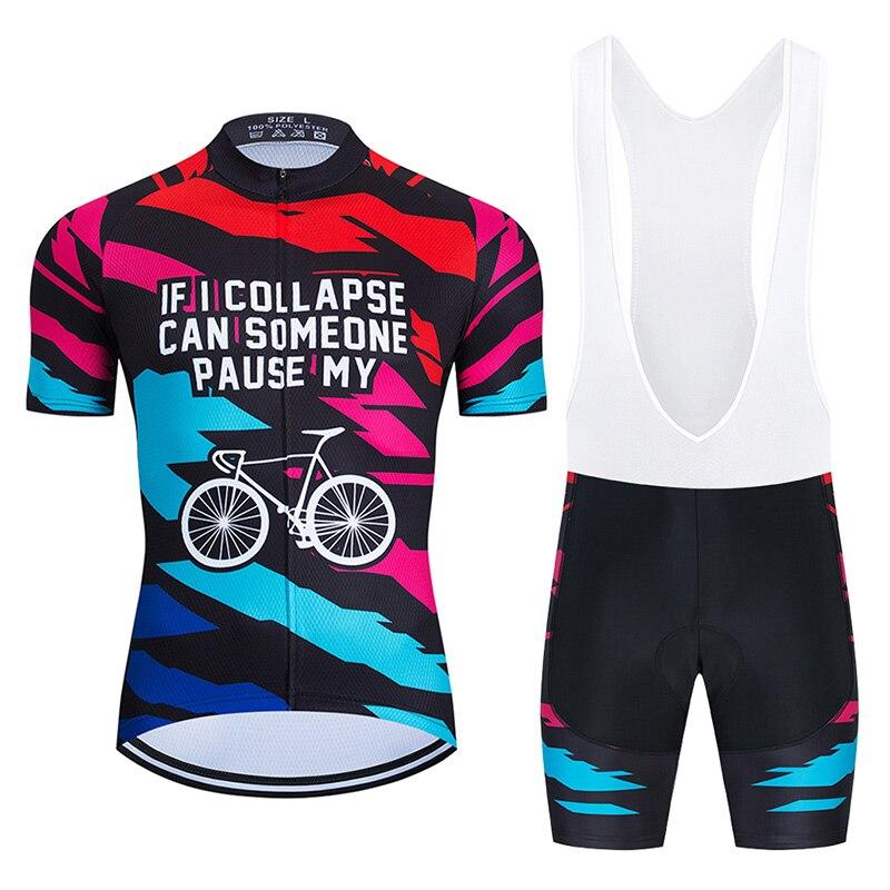 Conjunto de Maillot y Culotte de Ciclismo para hombre, Ropa divertida de...