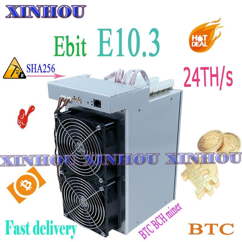 Nuevo BTC BCH minero Ebit E10.3 24/s SHA256 minero ASIC de Bitcoin mejor que E10 E9 antminer S9 S9SE S15 T15 Z11 T2T T1 M3 baikal