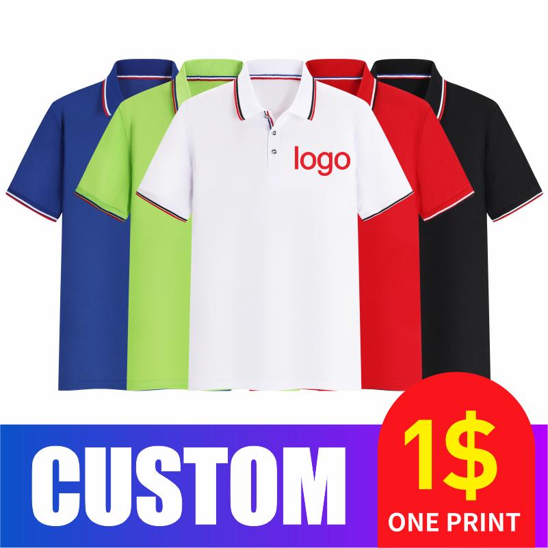 COCT 2020Polo hombres y mujeres moda personalizada casual barato manga corta grupo individual logo camisa POLO bordada