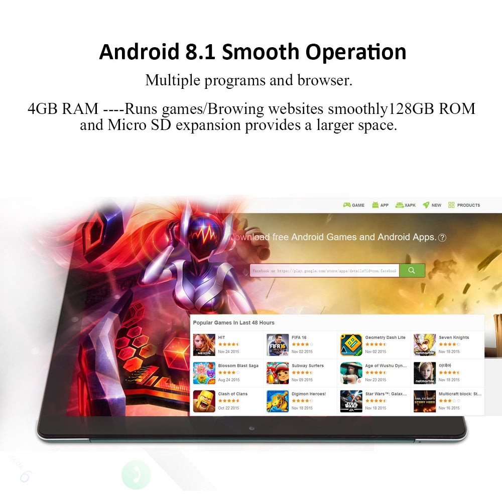ANRY K30 10.6 Inch 4G LTE Android Tablet MTK6797T 10 Core 4G Phone Calling Tablets PC 1920*1200 FHD IPS 4GB RAM 128GB ROM Type-C enlarge