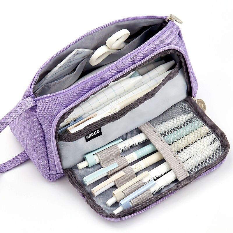 Large Capacity Pencil Case Kawaii Pencil Cases School Student Pen Case Supplies Pencil Storage Bag B
