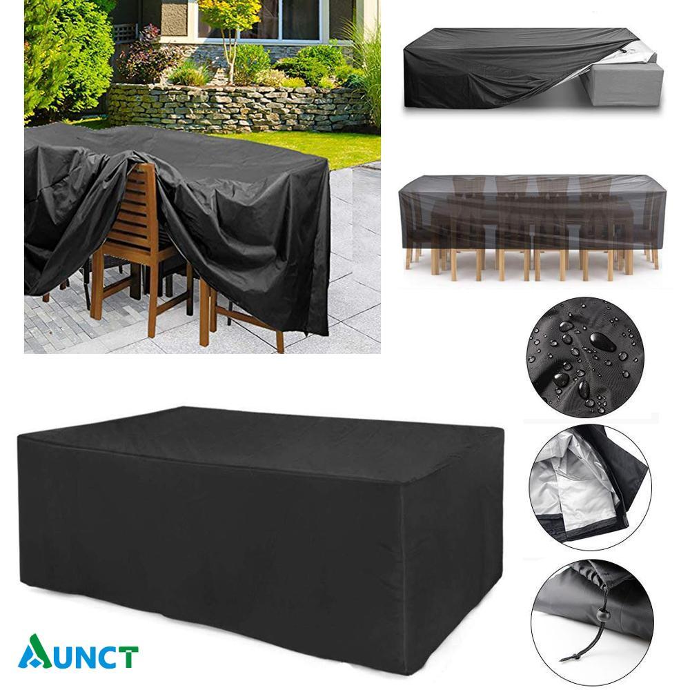 Пыленепроницаемый Чехол из ткани Оксфорд для мебели, чехол для ротанга, стола, кубического кресла, дивана, водонепроницаемый защитный чехол... чехол