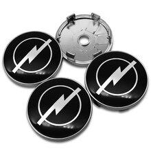 Centre de roue avec Logo de voiture, 60mm, 4 pièces, pour Opel Astra H G J Insignia Mokka Zafira Corsa vectrr, accessoires automobiles