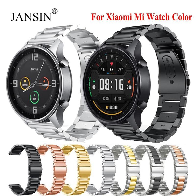 Correa de Color para Xiaomi MI Watch, pulsera de acero inoxidable, Correa...