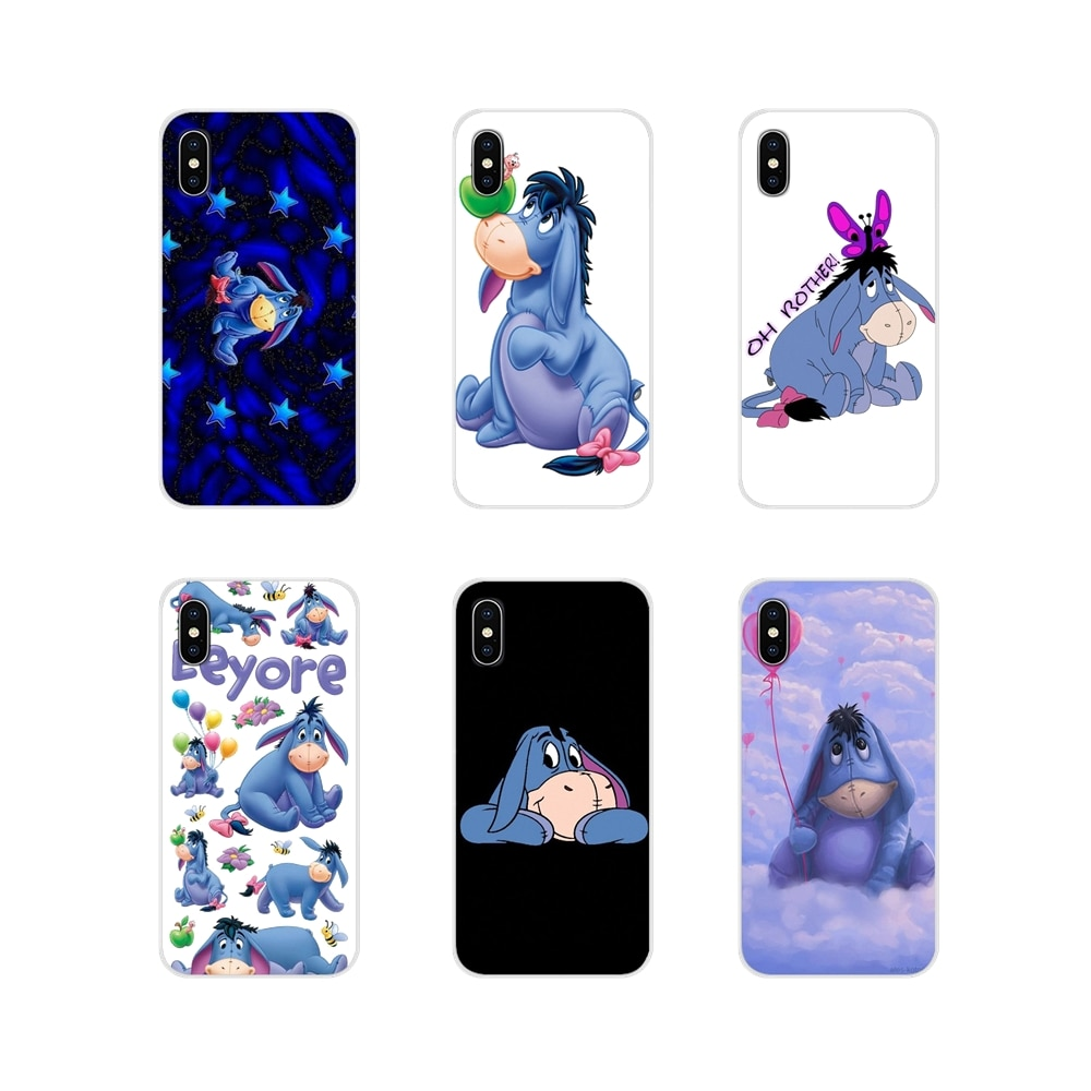 Carcasa para Apple iPhone X XR XS 11Pro MAX 4S 5C SE 6S 7 8 Plus ipod touch 5 6, accesorios, carcasa para teléfono, dibujos animados donkey art Eeyore