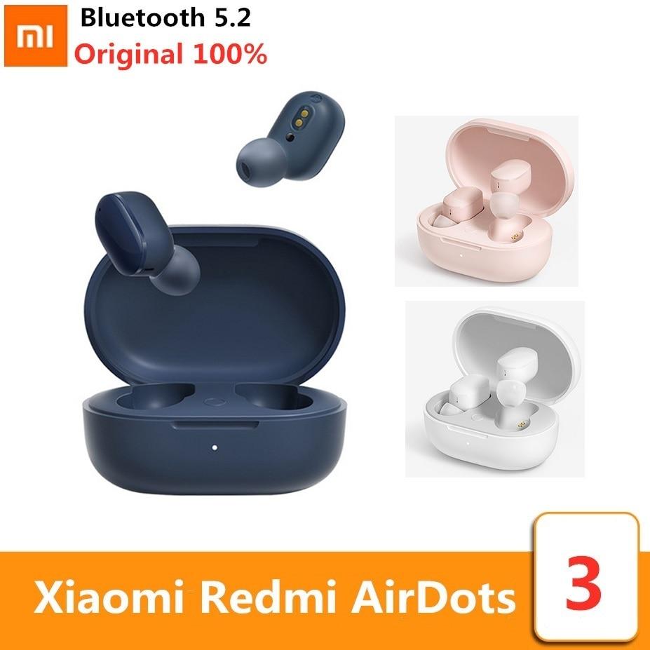 Xiaomi-سماعة رأس لاسلكية Redmi AirDots 3 TWS ، بلوتوث 5.2 ، AptX ، قابل للتكيف ، مع التحكم باللمس ، صوت CD