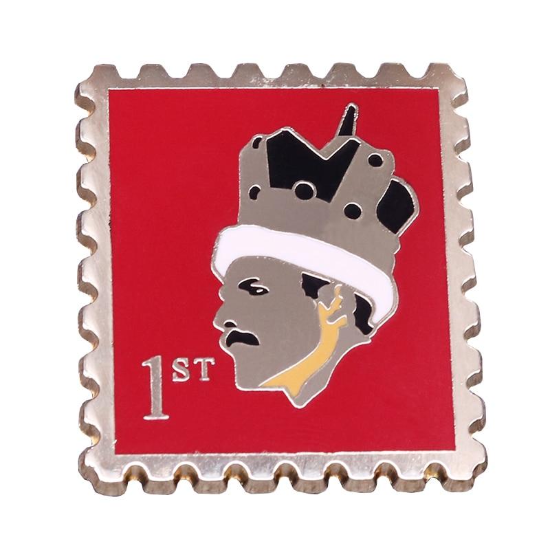 Accesorios retro para seguidores de la Reina, esmalte, sello de Freddie Mercury