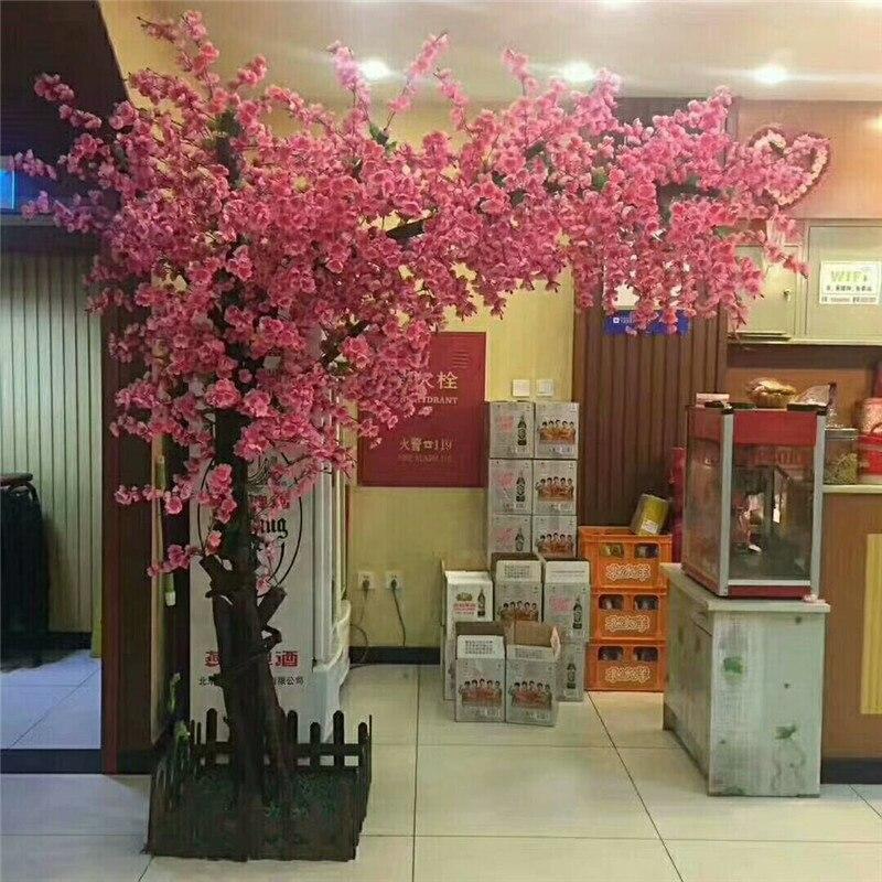 شجرة خوخ صناعية أشجار وهمية مول فندق شجرة ديكور كبير زخرفة النباتات الكبيرة للتخصيص