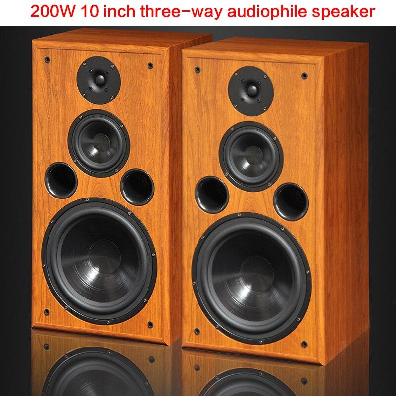 200 واط عالية الطاقة مكبر صوت 10 بوصة ثلاثة طريقة رف الكتب الطابق إلى السقف Hifi الصوت السلبي المسرح المنزلي المتحمسين المتكلم