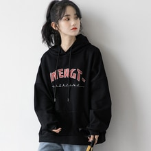 2020 Winter Retro Hong Kong Style Distressed Scratch Letters Thickened Hooded Sweatshirt Female Stud