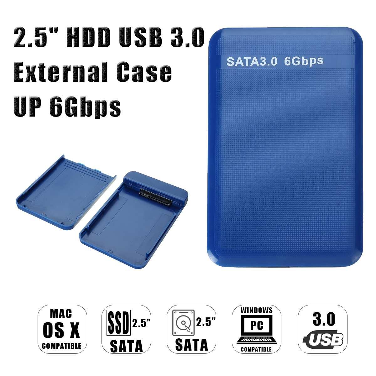 Capa de Disco Polegada Sata Disco Rígido Externo Gabinete Hdd Ssd Case 6 Gbps 2.5 Usb 3.0