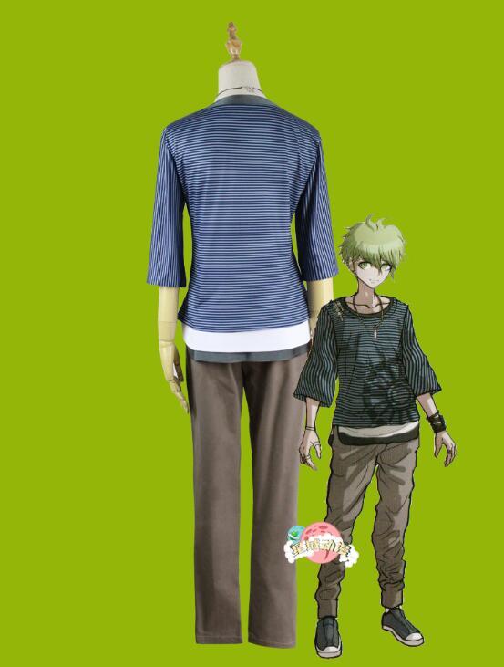Danganronpa V3 Rantaro Amami, disfraz de Cosplay, uniforme Rantaro Amami, atuendo, ropa, camiseta, pantalones, collar
