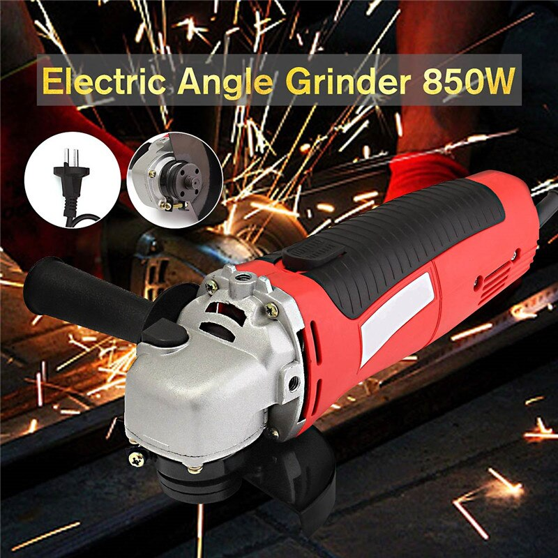 230V 650W Handheld Electric Angle Grinder 115mm 4.5 Inch Heavy Duty Grinding Power Tool For Metal Wood Polishing Cutting