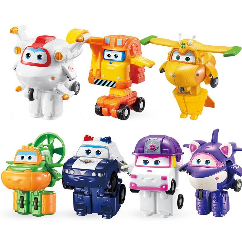 Мини Экшн-фигурки «Супер Крылья», игрушечные роботы-трансформеры