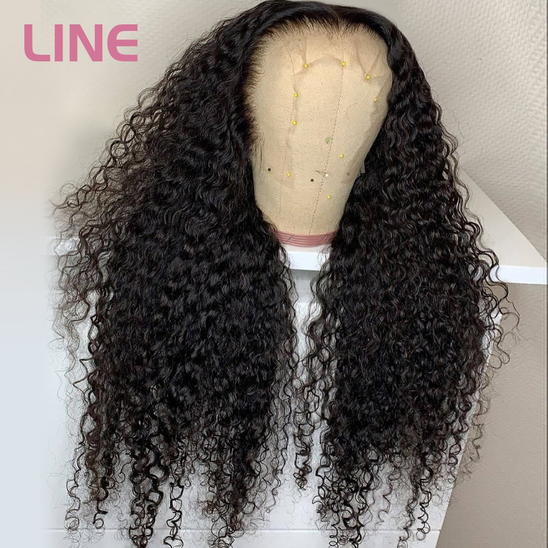 13x4 HD Lace Frontal Wig Curly Human Hair Wigs Brazilian Deep Wave Wig Transparent Lace Wigs Melted
