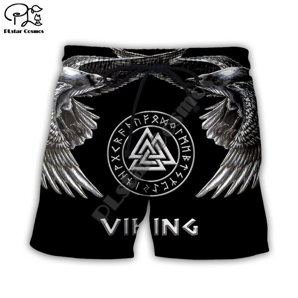 PLstar Cosmos 2020 Sommer Kurze Viking tattoo 3D alle ove prined Hosen frauen für männer Strand casual Shorts Dropshipping