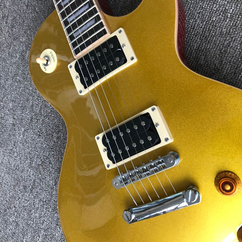 Guitar Exclusive Quality. Integrated Electric Guitar, Upgrade Tune-O-Matic Bridge Guitar Gold Powder. Free Delivery enlarge