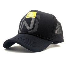 Casquettes de Baseball unisexe en maille   Casquettes dété respirantes dimpression NPC, casquettes de Baseball hommes femmes, casquette de Baseball en os, chapeaux dextérieur, chauffeur de camion, casquette de jeu Bq114
