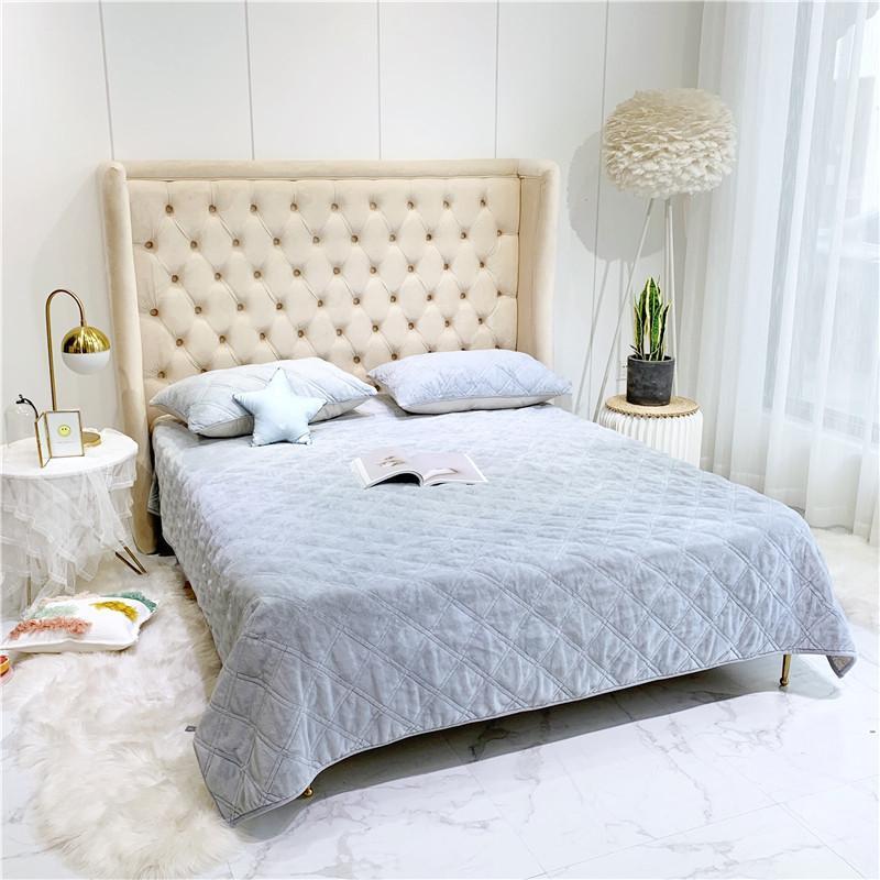Couvre-lit en velours pour enfants   Couleur unie, Chic couvre-lit en velours, taie doreiller Ultra doux et chaud, housse de canapé, couette double taille pour enfants