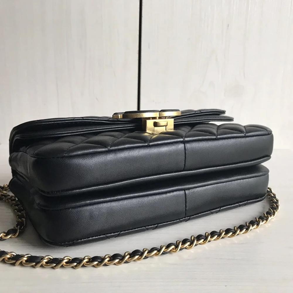 حقائب يد فاخرة عالية الجودة للنساء ، حقائب كتف مصممة للنساء ، ماركة مشهورة ، جلد أصلي ، حقيبة كتف بغطاء 2020