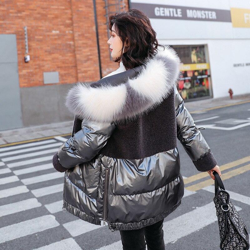 Vestido de mujer 2020 invierno nuevos productos de estilo coreano chao lian Cap ke li rong conjunto Casual largo de las mujeres ropa acolchada de algodón