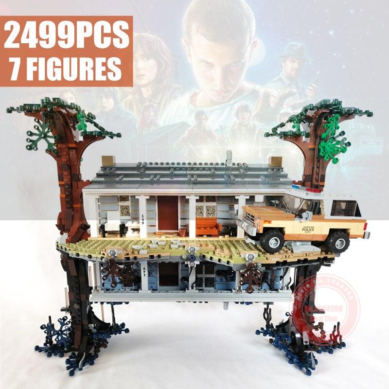 Nuevo 2499pcs extraño las cosas al revés ajuste extraño las cosas 75810 MODELO DE 25010 bloques de construcción ladrillos Set regalo de Juguetes