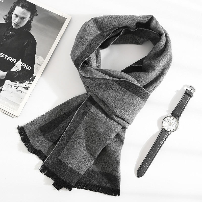 2021 new Fashion quality Scarves man Autumn winter Thick Warm cashmere Scarf Business long Wraps boy classic shawl free shipping