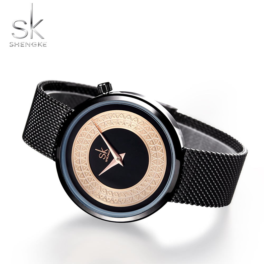 Shengke Women Watches Characteristic Texture Fashion Casual Quartz Female Watches Bayan Kol Saati Wristwatches Reloj Mujer 2019 enlarge