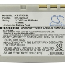 Cameron Sino 1850mAh Battery CA60L1-G, CA60L4-G, HA-D20BAT for Casio HA-020LBAT, HA-D20BAT, HA-D21LB
