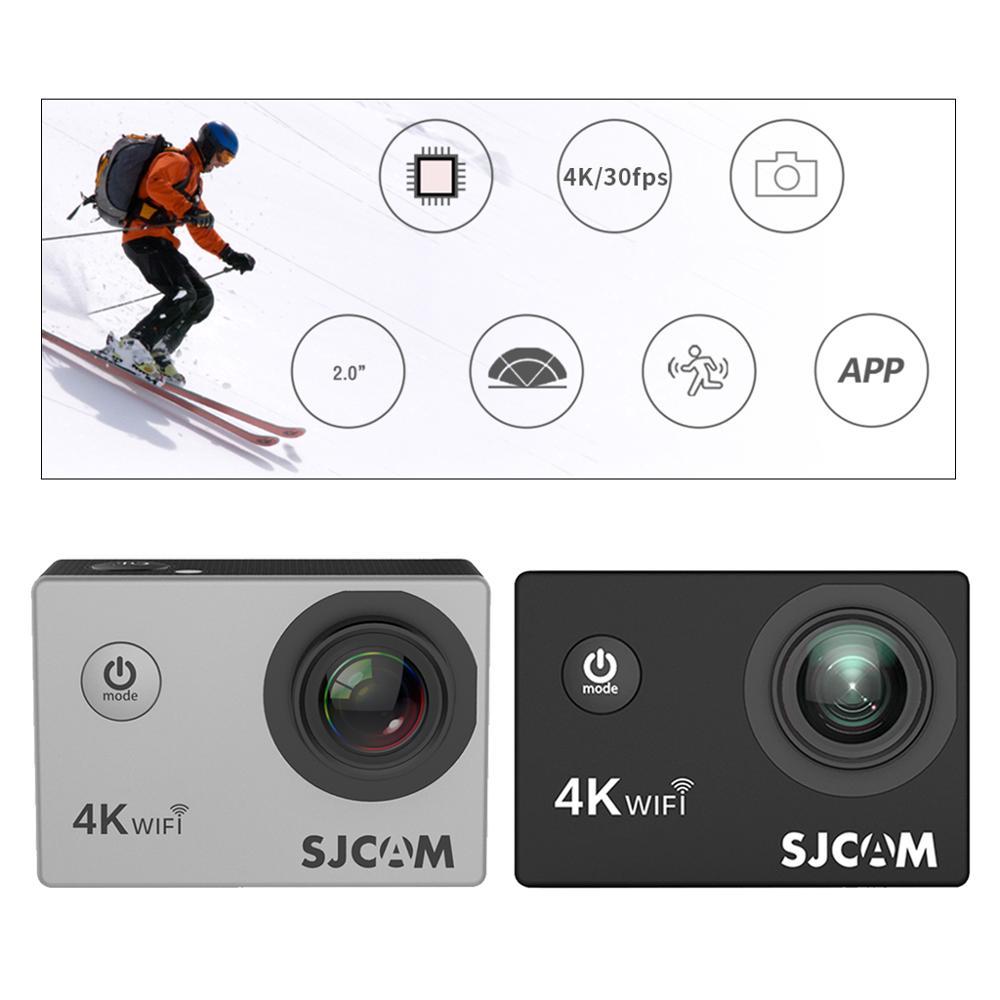 Cámara de Acción aérea SJCAM SJ4000, Full HD, Allwinner 4K, 30fps, WIFI, pantalla de 2,0 , a prueba de agua, Mini casco, cámara de DV del coche, 20nuevo