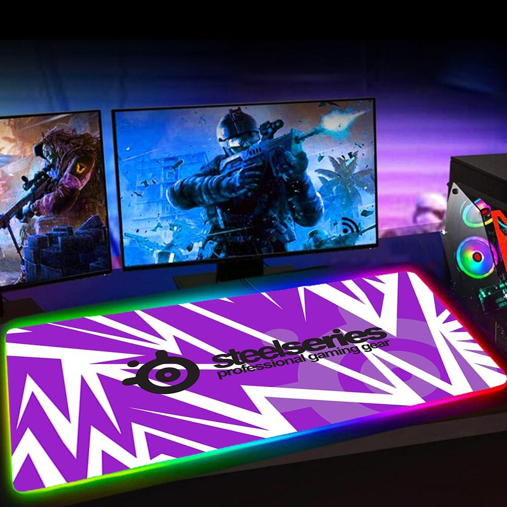 Rgb Steelseries Gaming Mouse Pad Large Kawaii Mousepad Alfombrilla Raton Mause Pad LED Backlit Mat Keyboard Pad Tapis De Souris
