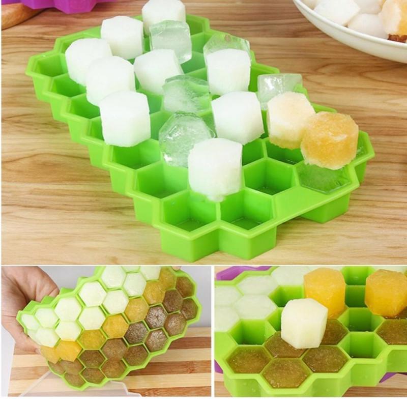37 cubos bandeja con moldes para cubitos de hielo de miel cubos de hielo congelado Mini cubo bandeja de silicona molde de la torta fiesta frío Bar frío beber herramientas