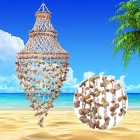 handicraft products natural ocean shells wind bell marine theme party adornment birthday gift balcony room decoration diy