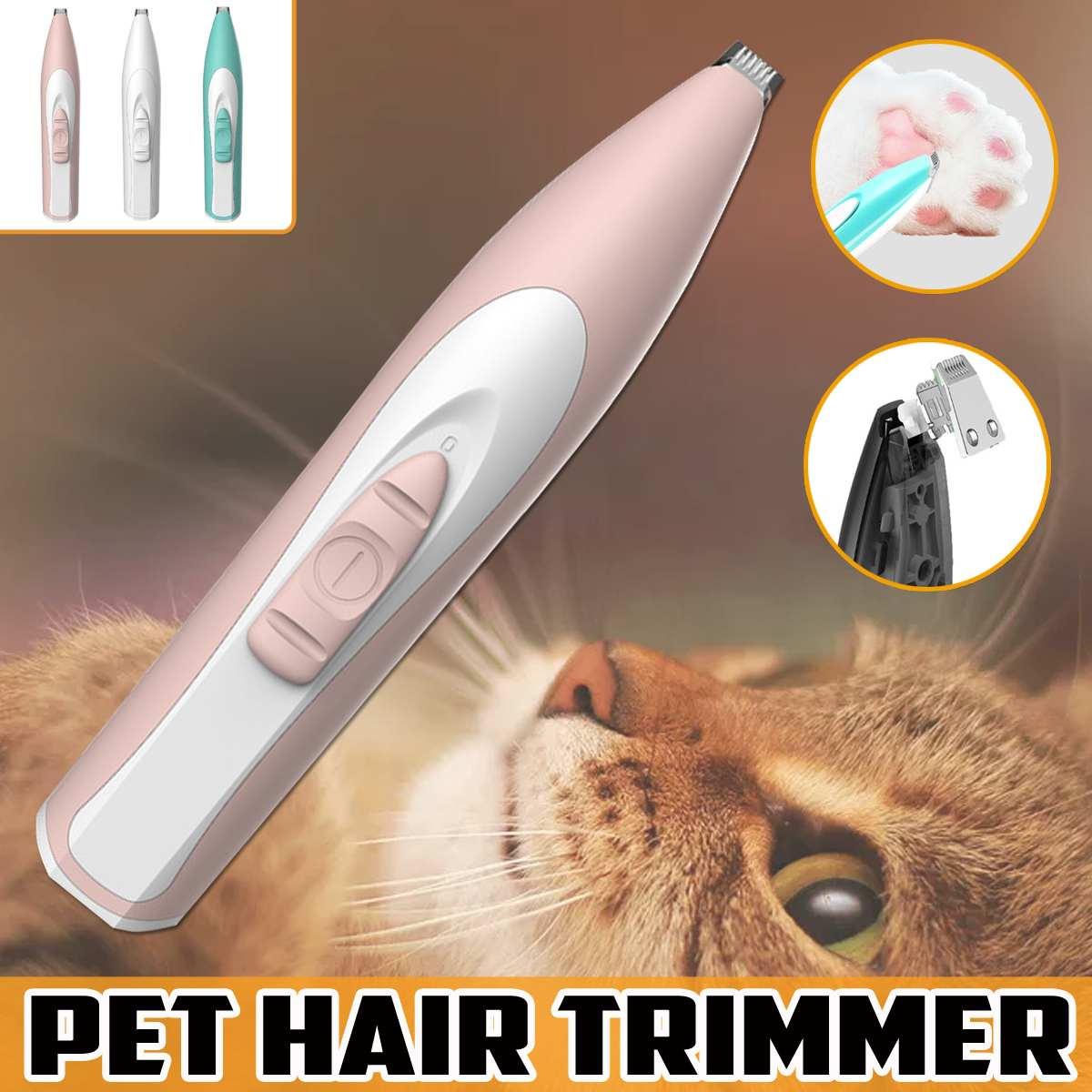 Cortadora profesional para pies de Mascota, cortadora para el pelo de perro, cortadora para crecimiento de perros, cortadora recargable por USB para orejas, removedora de pelo de ojos, poco ruido