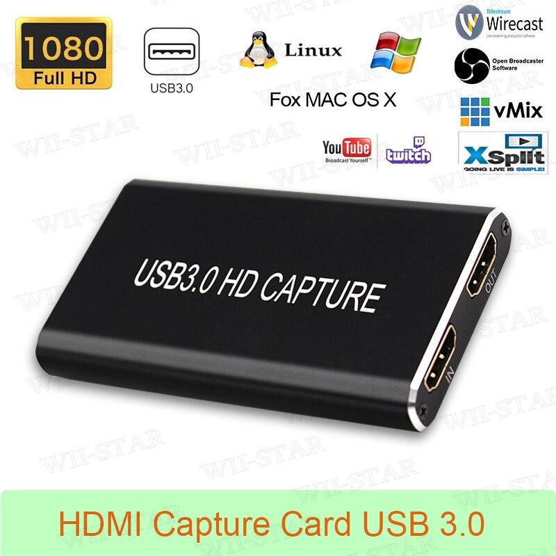 Captura de vídeo HDMI tarjeta USB 3,0 para portátil Windows/Linux/Mac HDMI a USB 3,0 captura
