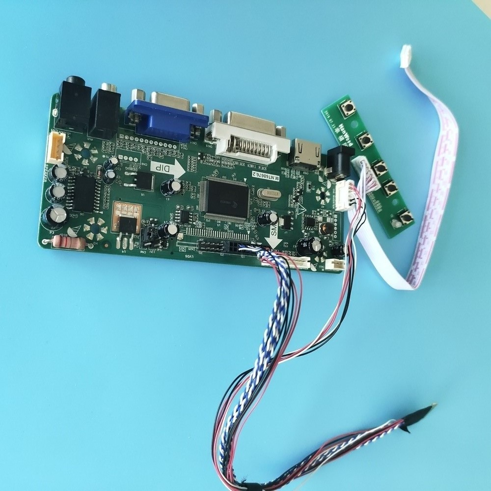 عدة لـ LTN156KT02 40pin M.NT68676 لوحة تحكم لوحة شاشة 1600x900 شاشة عرض HDMI + DVI + VGA LCD LED 15.6