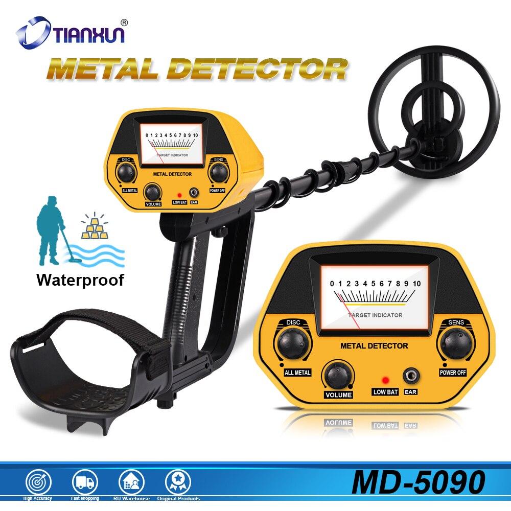 MD-5090 Metal Detector Detection Instrument Underground Metal Detector Metal Finder Gold Detector Hunter Treasure Gold Digger